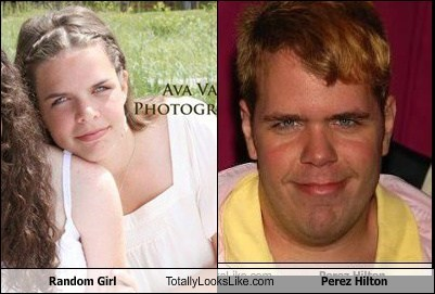 Totally Looks Like: Random Girl Totally Looks Like Perez Hilton