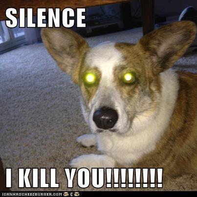 SILENCE  I KILL YOU!!!!!!!!