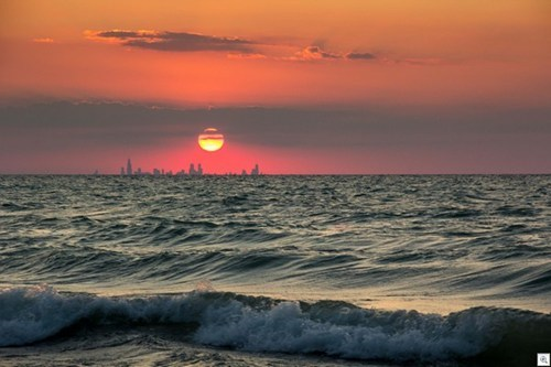 Chicago Across Lake Michigan