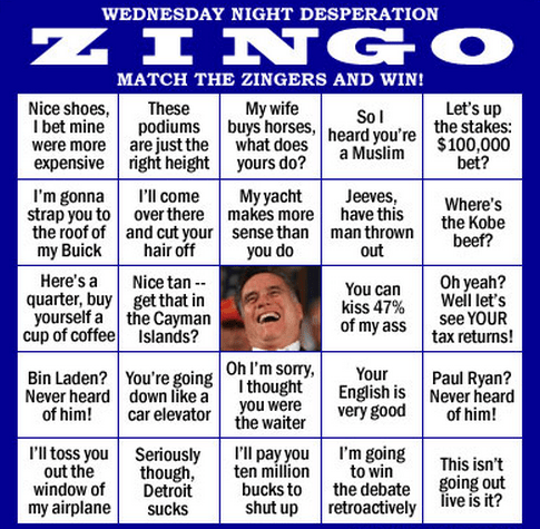 Pundit Kitchen: Zingo: A Fun Game for Wednesday's Debate