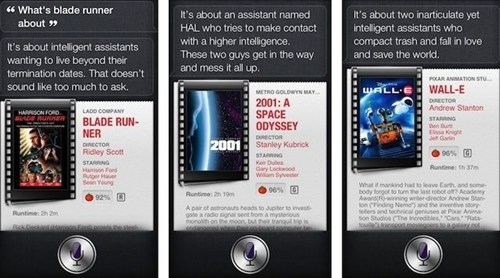 Siri Identifies with Robots in Movies