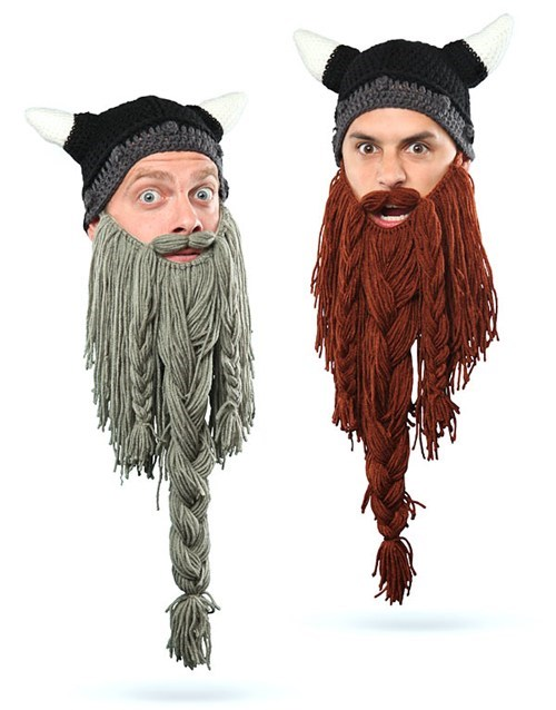 Knitted Beard Hats of the Day