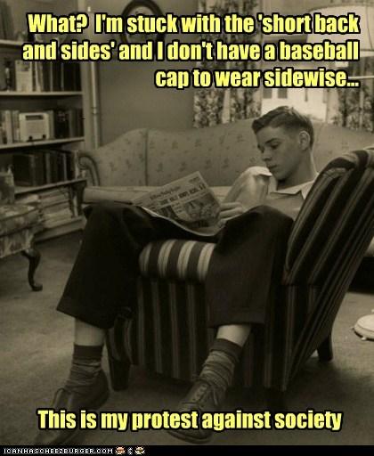 50s,chair,teenager,rebellion,sideways,newspaper