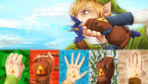 legend of zelda,link,triforce,fan art,video games