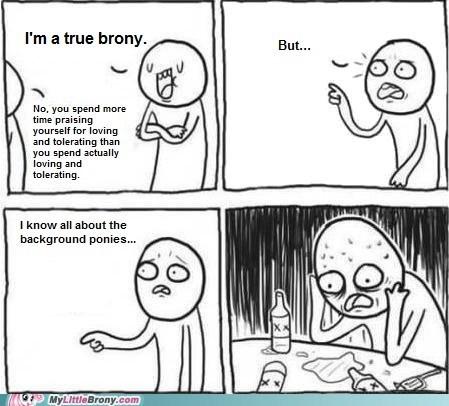 Bronies,harsh,love and tolerate,meme