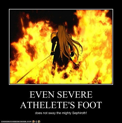 EVEN SEVERE ATHELETE'S FOOT