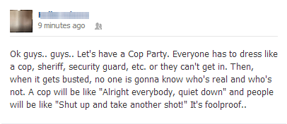 Failbook: A Cop Celebration! A Copulation! Wait...
