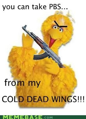 Big Bird's Response: Viva La PBS!