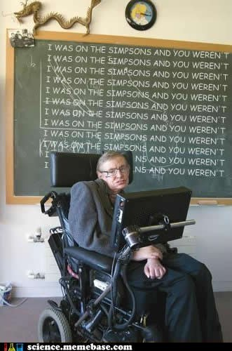 stephen hawking,simpsons,awesome