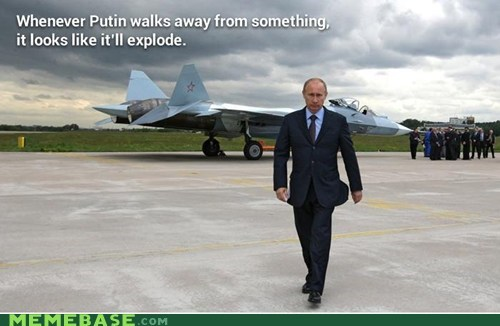 Whenever Putin walks away from something