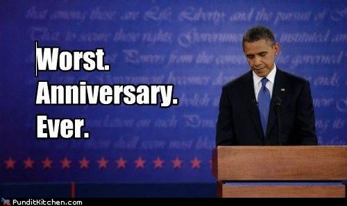 barack obama,worst ever,anniversary,debate,Sad,categoryimage