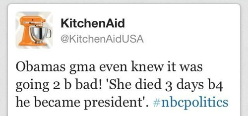 barack obama,cynthia soledad,election 2012,kitchenaid,nbcpolitics,offensive tweet,tweet,twitter