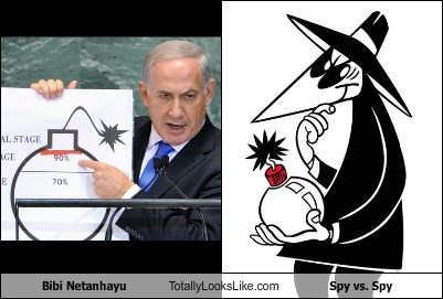 Bibi Netanhayu Totally Looks Like Spy vs. Spy