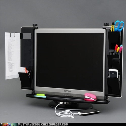 Monitor Organizer with USB Hub