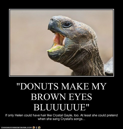 """DONUTS MAKE MY BROWN EYES BLUUUUUE"""