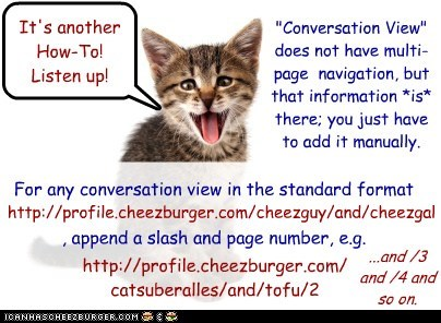 "How to get multi-page ""Conversation View"""