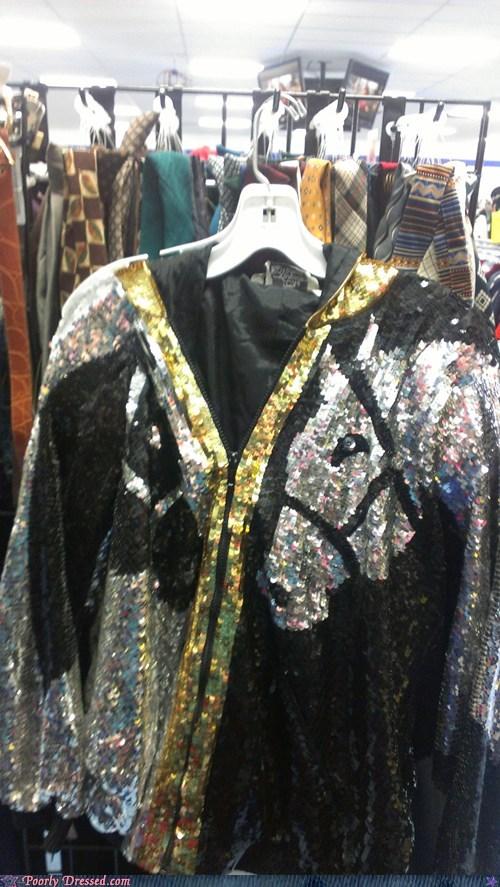 Sequins,vest,horses
