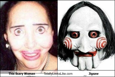 This Scary Woman Totally Looks Like Jigsaw from Saw