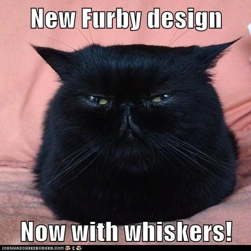 New Furby design  Now with whiskers!