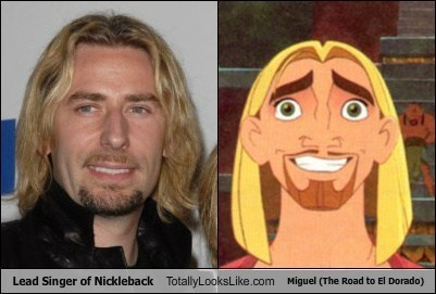 Chad Kroeger (Nickleback) Totally Looks Like Miguel (The Road to El Dorado)