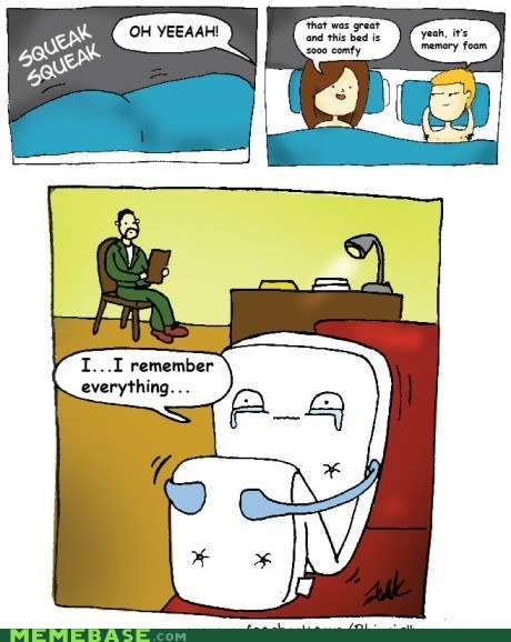The trouble with memory foam