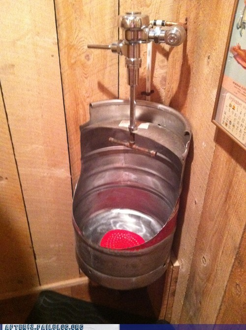 The Keg-Urinal Stand is So Much Easier