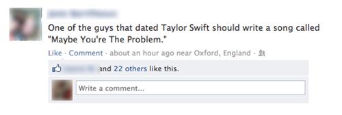 taylor swift,facebook