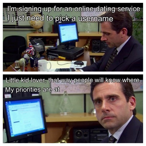 right message,Michael Scott,the office,dating sites