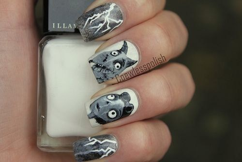 If Style Could Kill: Frankenweenie Nails