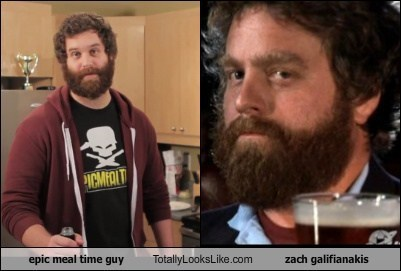 Epic Meal Time Guy Totally Looks Like Zach Galifianakis