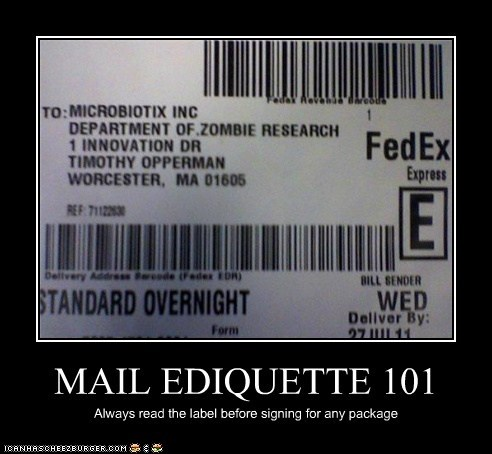 MAIL EDIQUETTE 101
