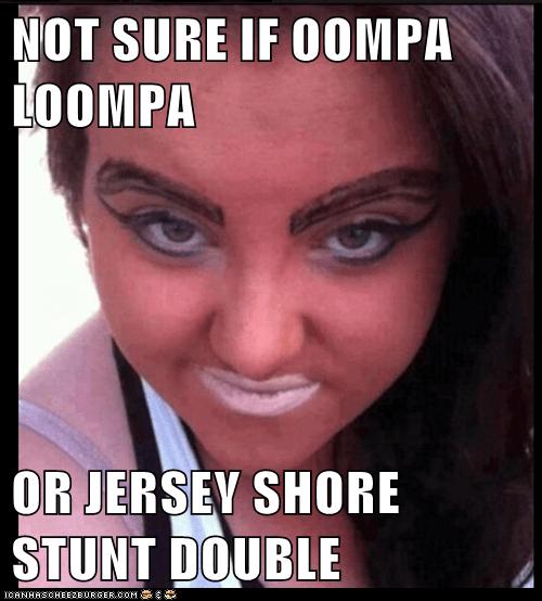 oompa loompa,snooki,jersey shore,orange,make up