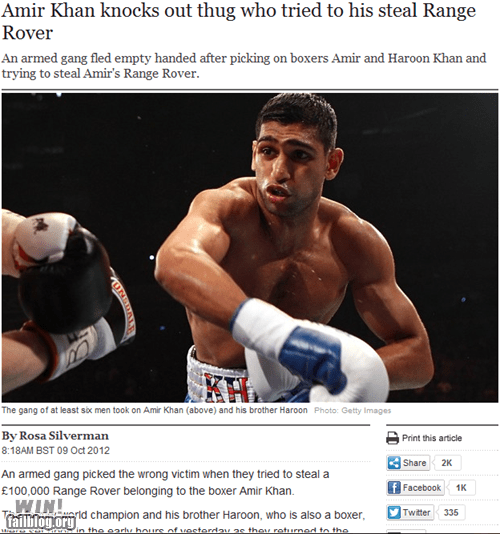 Amir Khan in the News WIN