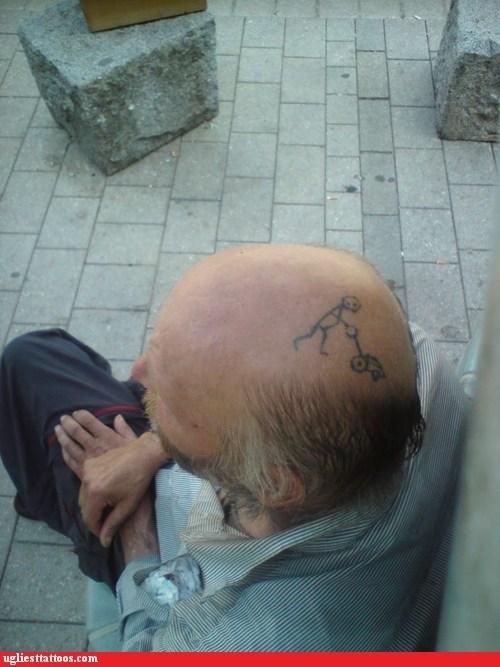 lawnmower,scalp tattoos,balding