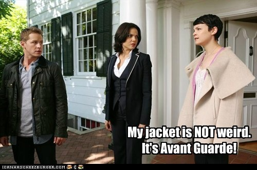 My jacket is NOT weird. It's Avant Guarde!