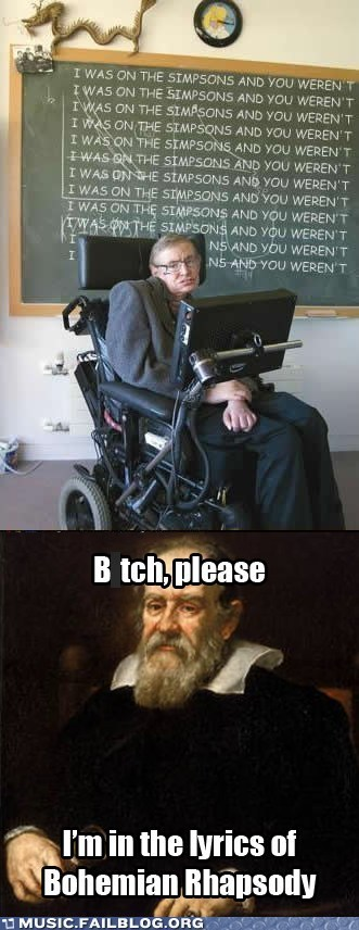 Take THAT, Dr. Hawking!