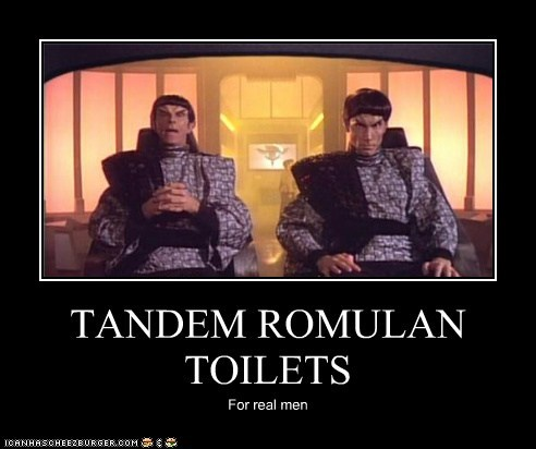 TANDEM ROMULAN TOILETS