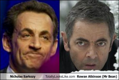 Nicholas Sarkozy Totally Looks Like Rowan Atkinson (Mr Bean)