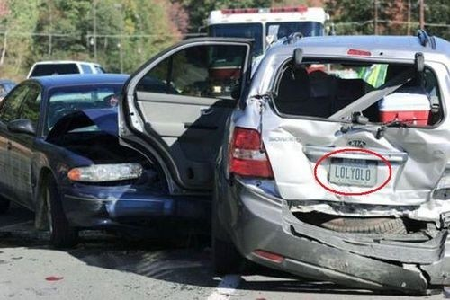 license plate,yolo,car accident,accident,cars,best of week,Hall of Fame