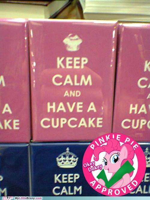 keep calm,pinkie pie,cupcake,IRL