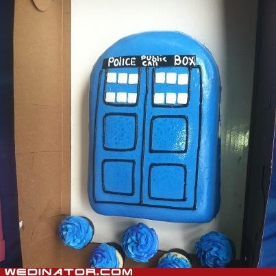 Our Impromptu Tardis Cake