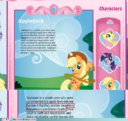 applejack,celestia,gross