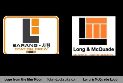 Logo From the Film Moon Totally Looks Like Long & McQuade Logo