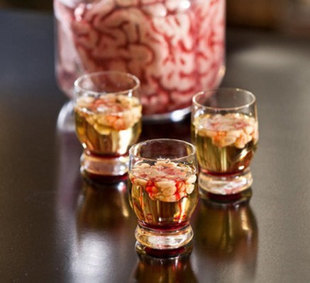 The Bloody Brain Halloween Shot