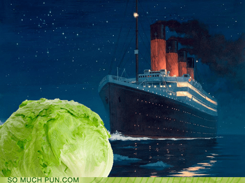 The Titanic Hitting the Iceberg