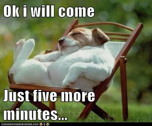 Ok i will come  Just five more minutes...