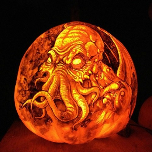 pumpkins,halloween,nerdagsm,cthulhu,carving