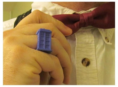 tardis,ring,3D printer,doctor who