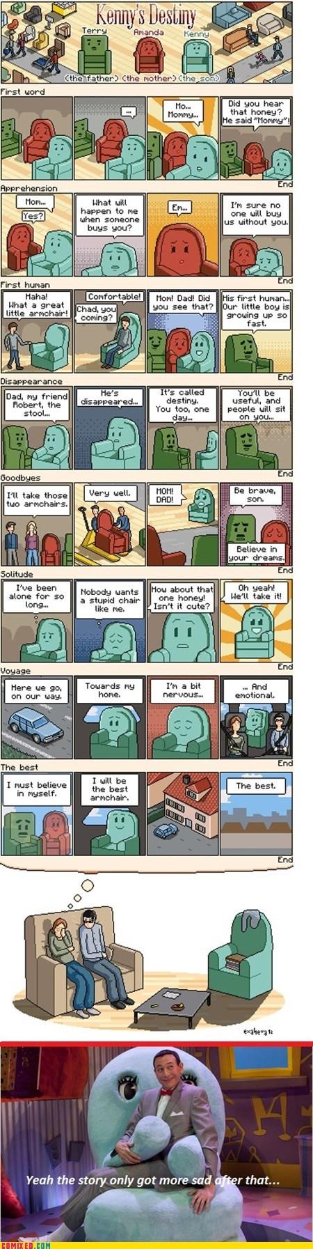 sad story,chairs,Reframe,furniture,feels