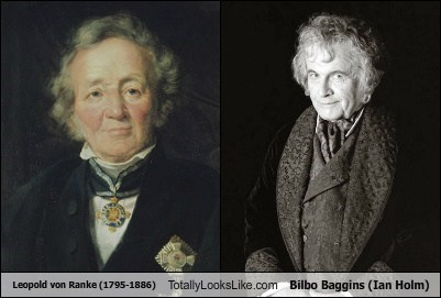 Leopold von Ranke (1795-1886) Totally Looks Like Bilbo Baggins (Ian Holm)